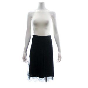 BURBERRY LONDON BLACK LACE WRAP SKIRT SIZE 4